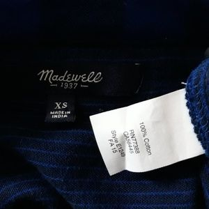 Madewell Tops - Madewell Courier Blue And Black Buffalo Check